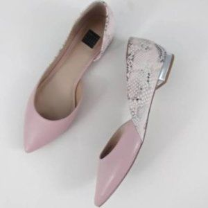 White House Black Market Pink Goddess Flats 8 WHBM